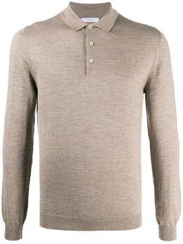 Boglioli трикотажная рубашка поло с длинными рукавами 91425BSC811