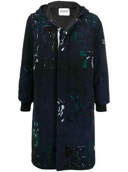 Iceberg пальто с капюшоном и абстрактным узором I1P0N0302844
