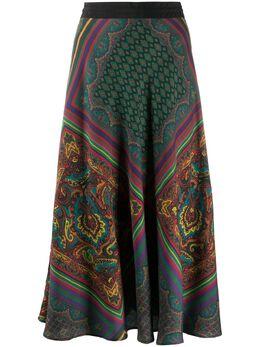 Etro юбка А-силуэта с принтом 188935169