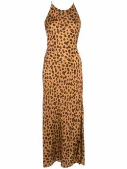 Rosetta Getty платье-комбинация с леопардовым принтом 13205J6645