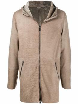 Giorgio Brato пальто на молнии с капюшоном GU21F8495MESV