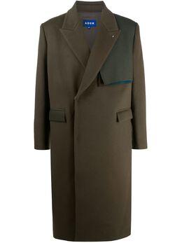 Ader Error двубортное пальто со вставками BTAFWCT01KK