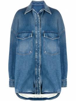 The Attico джинсовая куртка оверсайз 202WCT16D001045