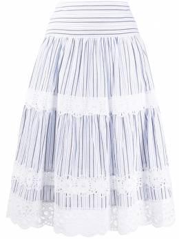 MICHAEL Michael Kors полосатая юбка с кружевом MU07F50EKM