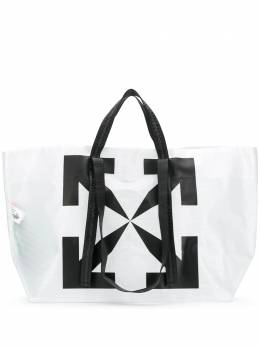 Off-White сумка-тоут с логотипом Arrows OMNA054E20PLA0010110