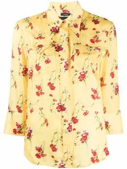 R13 рубашка на пуговицах с цветочным принтом R13W7244SN8Y