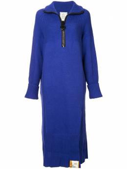 Maison Mihara Yasuhiro oversized zip knitted dress B01OP211