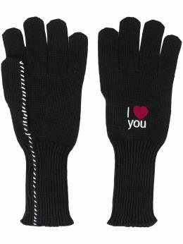 Raf Simons перчатки с вышивкой 202853