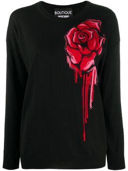 Boutique Moschino джемпер с круглым вырезом и цветочным принтом J09116100