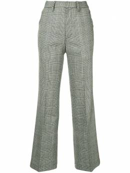 Kolor monotone checked trousers 18WPLP04126