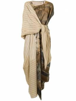 Uma Wang платье с принтом и запахом UW5041