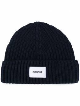 Dondup шапка бини в рубчик с логотипом UQ065Y00474UXXX