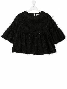 Monnalisa блузка с перьями 7163046115