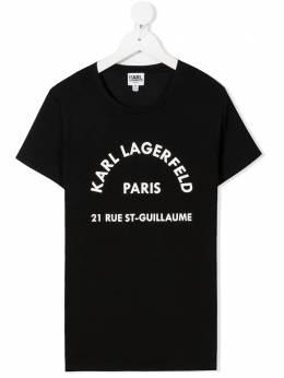 Karl Lagerfeld Kids футболка с логотипом Z1525909B