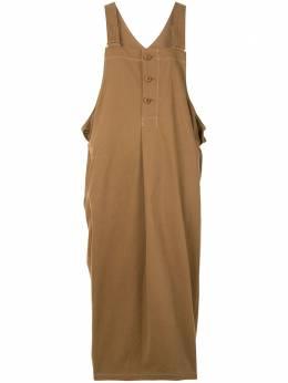 Y's платье без рукавов с драпировкой YBD02028