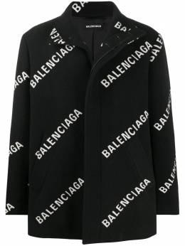 Balenciaga укороченное пальто с логотипом 629018TIU02