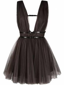 Brognano платье из тюля с поясом 29BR1A11204751