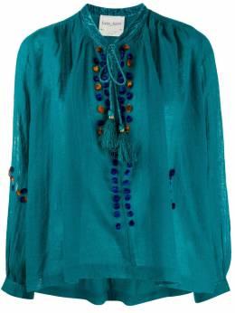 Forte_Forte блузка свободного кроя с кисточками 7561