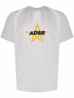 Ader Error футболка с вышитым логотипом BTAFWHT10GR
