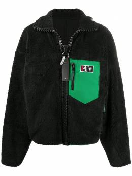 Maison Mihara Yasuhiro куртка оверсайз с воротником-воронкой A05BL621