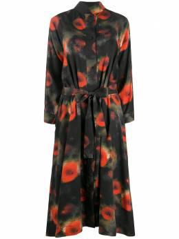 Henrik Vibskov платье-рубашка длины миди с абстрактным принтом AW20F313