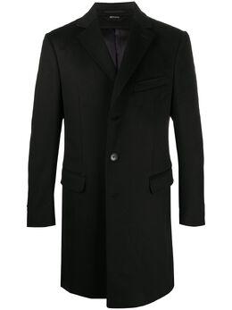 Z Zegna однобортное пальто узкого кроя 4GJ3G0898701