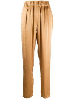 Forte_Forte брюки прямого кроя с эластичным поясом 7554