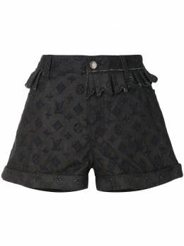Louis Vuitton джинсовые шорты pre-owned с вышитой монограммой RW101WWQPA01DBA