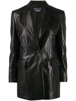 Boutique Moschino однобортный пиджак с жатым эффектом A05156120