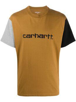 Carhartt Wip футболка в стиле колор-блок с логотипом I02835903