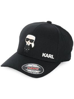 Karl Lagerfeld бейсбольная кепка Ikonik с резиновой нашивкой 805610591118