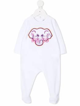 Kenzo Kids комбинезон для новорожденного с вышивкой KR54003