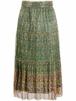Ba&sh плиссированная юбка с цветочным принтом 1E20PSYC