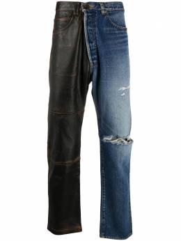 Maison Mihara Yasuhiro джинсы с контрастной вставкой A05PT011