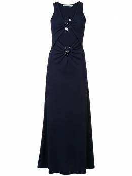 Christopher Esber платье макси Orbit со сборками PF20D03