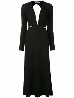 Christopher Esber платье в рубчик с открытой спиной PF20D08