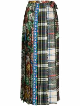 Pierre-louis Mascia плиссированная юбка в технике пэчворк SOLDATONWSGO10781501299