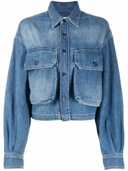 R13 куртка на пуговицах с эффектом потертости W8009234