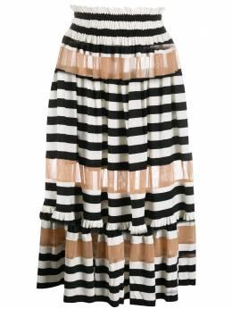 Norma Kamali юбка в полоску KK220SPM112231