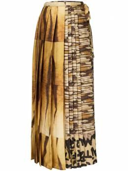 Pierre-louis Mascia плиссированная юбка с принтом SOLDATONWSGO10781501304
