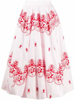 Simone Rocha юбка миди с вышивкой 30100380
