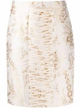 Moschino жаккардовая юбка A01035438