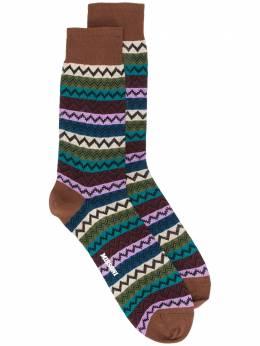 Missoni носки вязки интарсия с узором зигзаг CA00COU7730