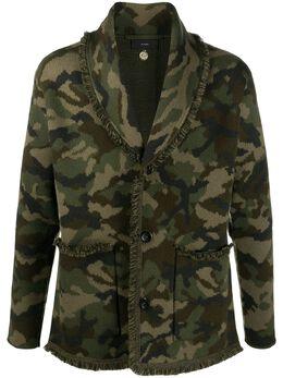 Alanui camouflage pattern fringe jacket LMHB015F20KNI0105685