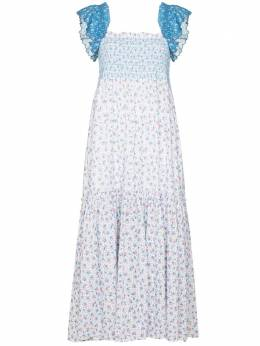 Loveshackfancy платье миди Constantine LD824611FLEURSMOCKEDCOTTON