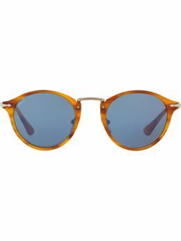 Persol солнцезащитные очки в круглой оправе PO3166S96056