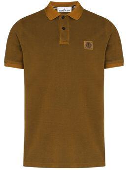 Stone Island рубашка поло с нашивкой-логотипом 731522S67