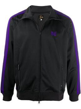 Needles куртка на молнии с отделкой в полоску HM225CHARCOAL