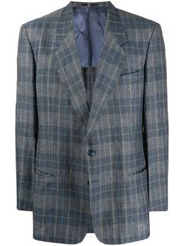 Valentino Pre-Owned клетчатый пиджак узкого кроя 1980-х годов VAL280NT