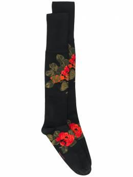 Simone Rocha носки с цветочным узором вязки интарсия SOCK6L0635VISCOSE